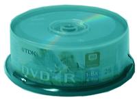 TDK-DVD+R8X25PK